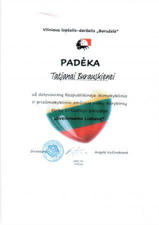 Paroda - Sveikiname Lietuvą