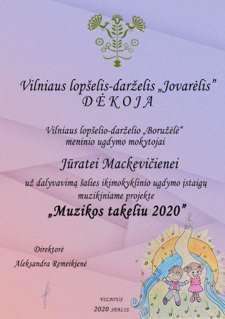 Projektas - Muzikos takeliu 2020